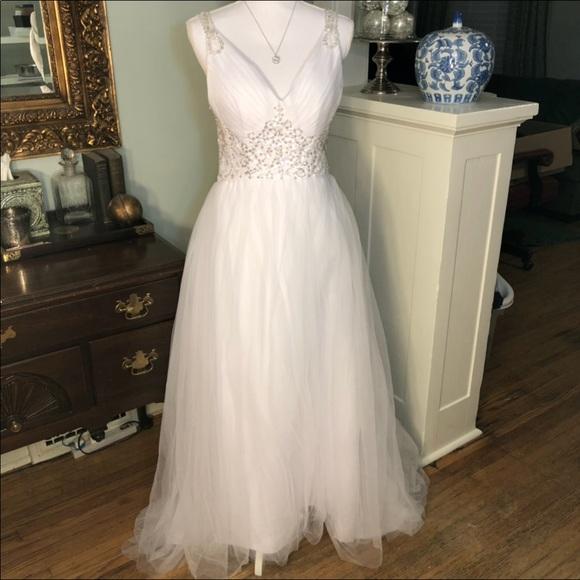 Custom Dresses Wedding Dress Beaded Sheer Back Full Skirt Poshmark
